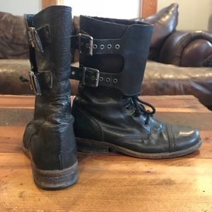 All Saints Damisi Black Leather Boot